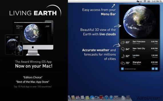 Living Earth 特别版   Mac上实时地球天气预报 天气预报 MAC Living Earth