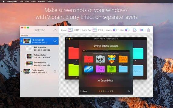 [限时免费] ShottyBlur   小巧好用的Mac截图软件 限时免费 ShottyBlur Mac限时免费 Mac截图