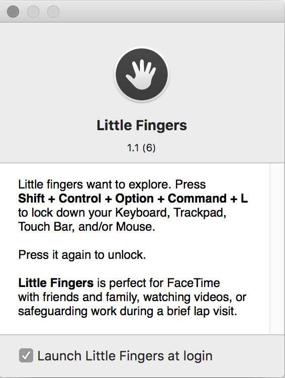 little fingers Little Fingers   Mac快速禁用键盘,谁也别想动我电脑 键盘 MAC Little Fingers
