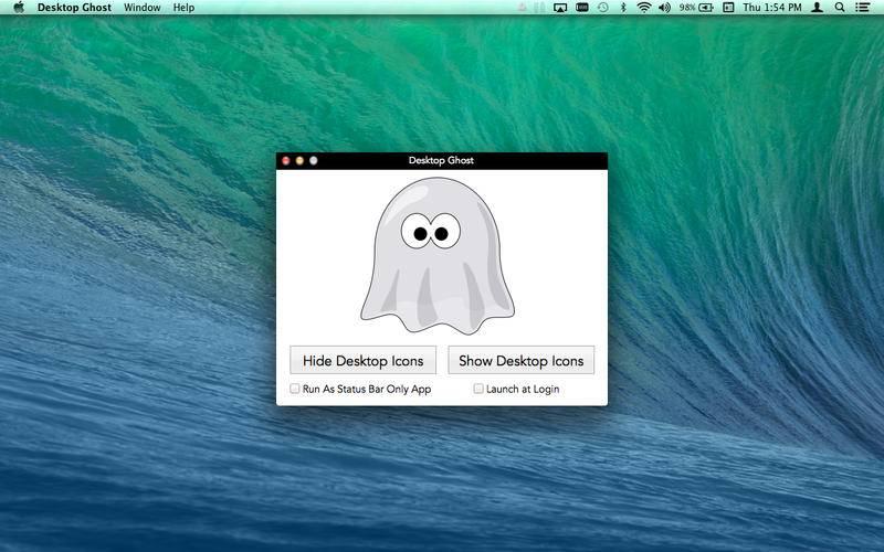 [限时免费] Desktop Ghost   Mac一键隐藏桌面图标 MAC Desktop Ghost