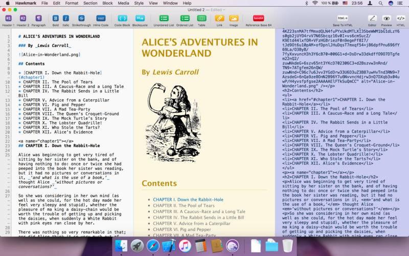 [限时免费] Hawkmark – 支持 Markdown 的文本编辑器 MAC软件 第1张