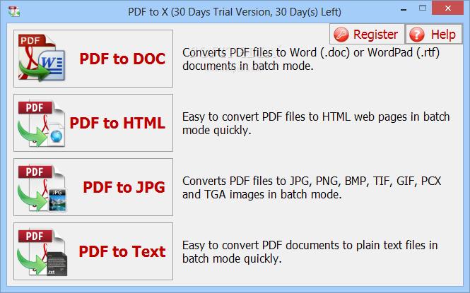 [限时免费] PDF to X –  PDF格式转换(Word、HTML、文本、图片) Windows软件 第1张