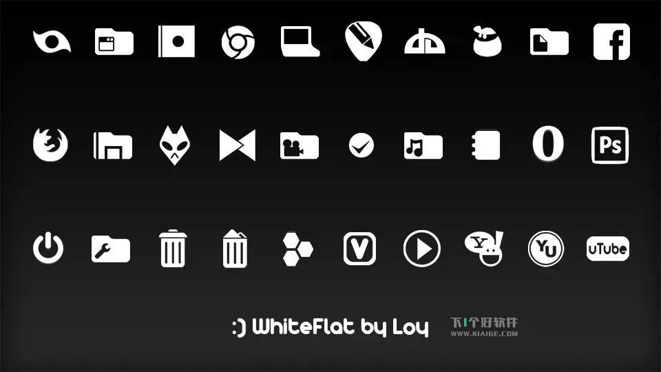 Windows美化图标包:Token 经典黑白风格 Windows软件 第3张