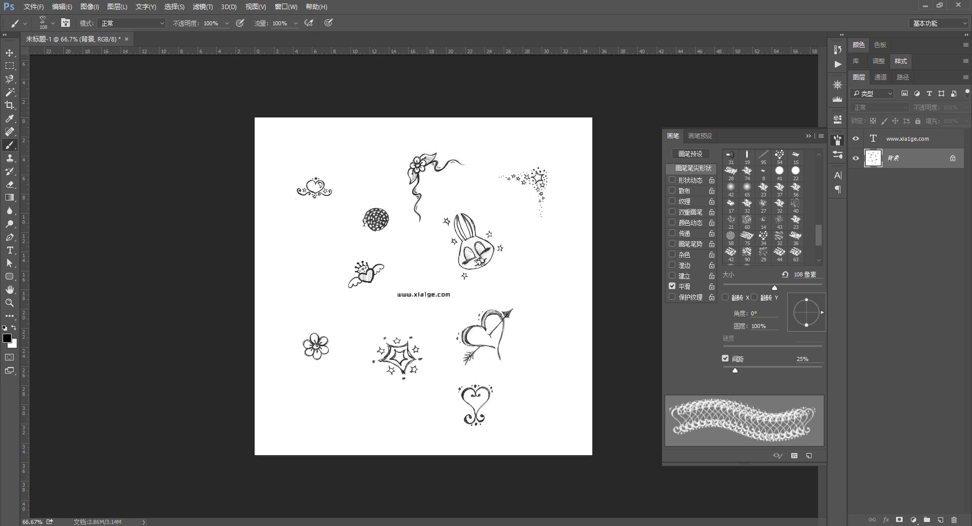 大量 PhotoShop 精品笔刷免费下载 图形图像 第1张
