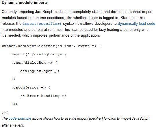 0c9578e2e8fc2dd Google发布Chrome 63 beta:支持动态模块导入 Chrome