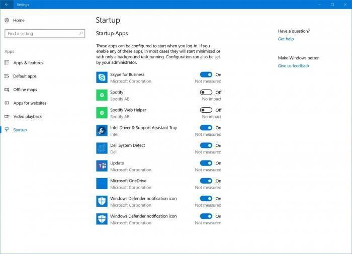 58215789f295717 Windows 10 Redstone 4 管理自启动功能移到设置里面 Windows 10