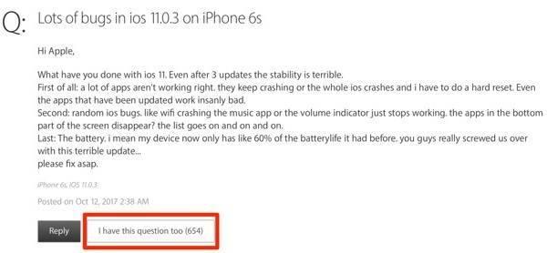 917a3b903363033 iOS 11 多次更新版本,耗电过快还是没解决 iOS 11
