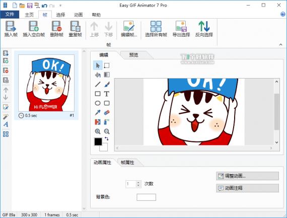 Easy GIF Animatorxxx 570x433 Easy GIF Animator 7.3.0.61 汉化特别版   强大的Gif动画编辑器 编辑器 动画 GIF Easy GIF Animator