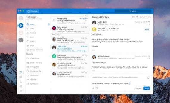 outlook macos new redesign 570x347 微软将重新设计 Outlook 桌面应用,更像移动端 Outlook