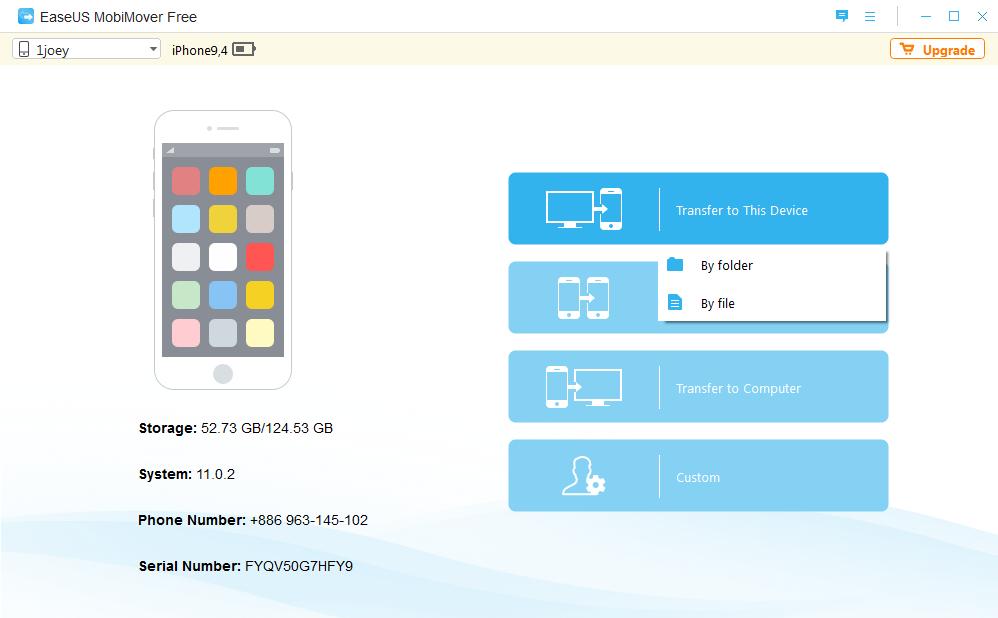Image 19 EaseUS MoviMover Free   免 Tunes 备份 iPhone 数据工具