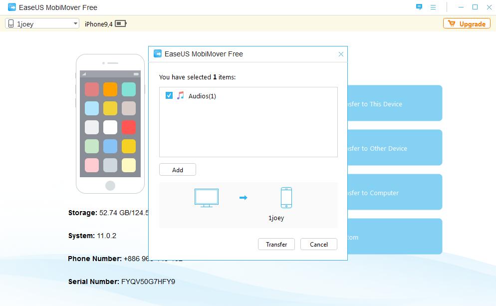Image 21 EaseUS MoviMover Free   免 Tunes 备份 iPhone 数据工具