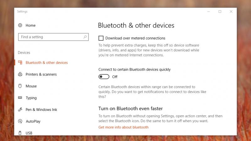 Microsoft QuickPair Settings 800x450 Windows 10 将支持蓝牙快速配对,不必长按配对键 Windows 10