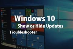 禁止 Windows 10 强制更新驱动/补丁工具:Show Or Hide Updates