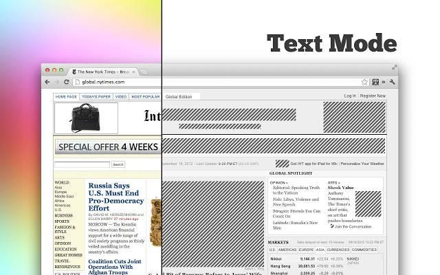 unnamed 3 让Chrome浏览器不显示网页图片:Text Mode 网页图片 Text Mode Chrome扩展