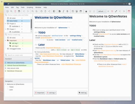 screenshot 570x440 QOwnNotes   免费开源笔记工具,支持 ownCloud 云服务 笔记 待办事项 开源 免费 QOwnNotes ownCloud