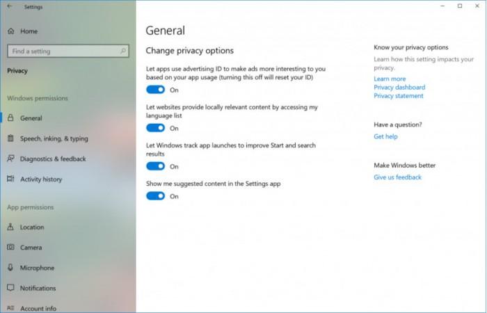36d404977855cbe Windows 10 Build 17093 发布:可删除诊断数据 Windows 10