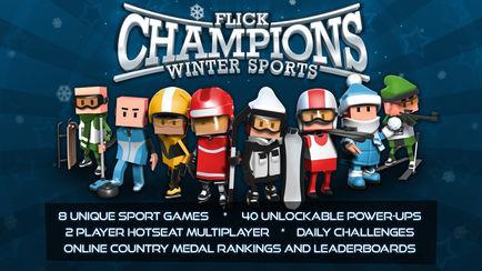 434x0w 3 [限时免费] Flick Champions Winter Sports   全能冠军赛:冬季运动会 限时免费 滑雪 滑冰 ios限时免费