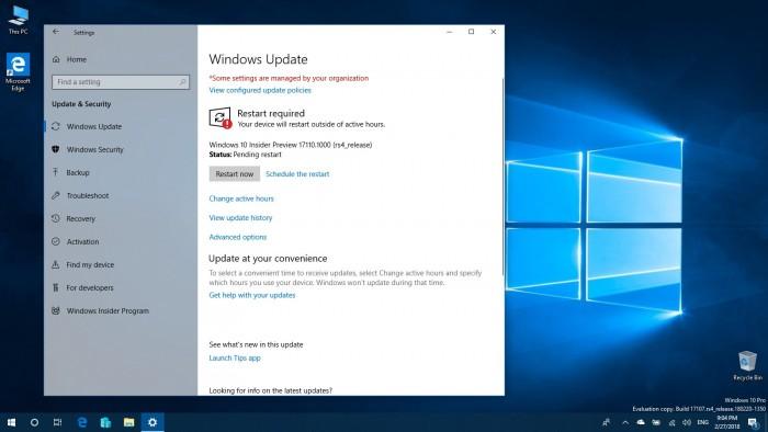 5f47713273bc03e Windows 10 Build 17110发布:针对企业用户的改进 Windows 10