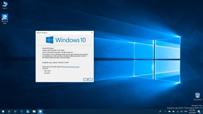 f96bfc5f3da5601 Windows 10 Build 17110发布:针对企业用户的改进 Windows 10