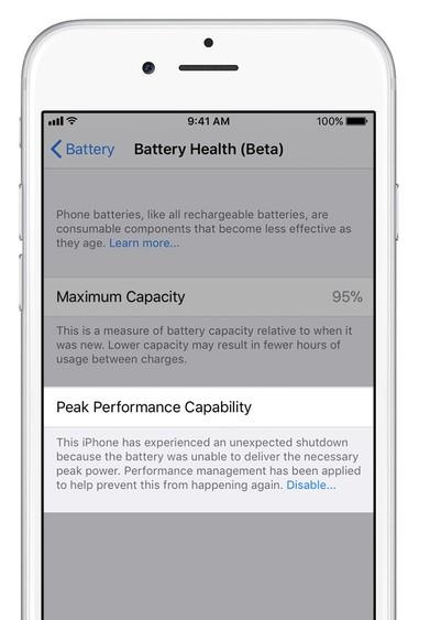"""3a3fed787be3ece iOS 11.3将增""""电池健康""""功能:专用于控制CPU性能 iOS 11"""