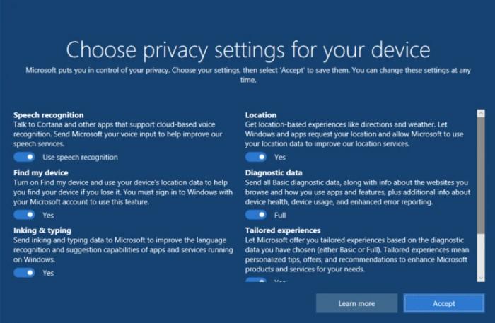 f2b5395673f531a 来看看 Windows 10 新版隐私设置界面:调整和优化 Windows 10