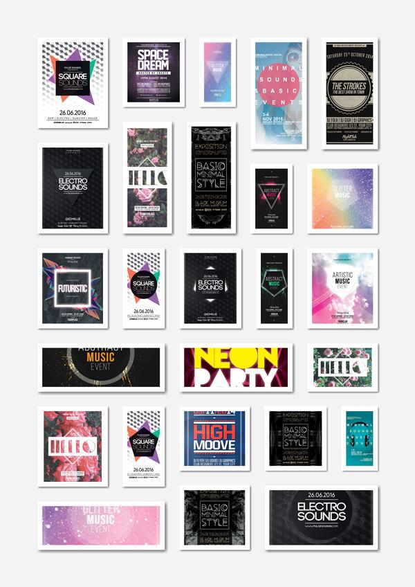 psd 40 music poster designs [PSD] 40张音乐海报设计图/音乐宣传模板 音乐 设计 海报 宣传 PSD素材 PSD