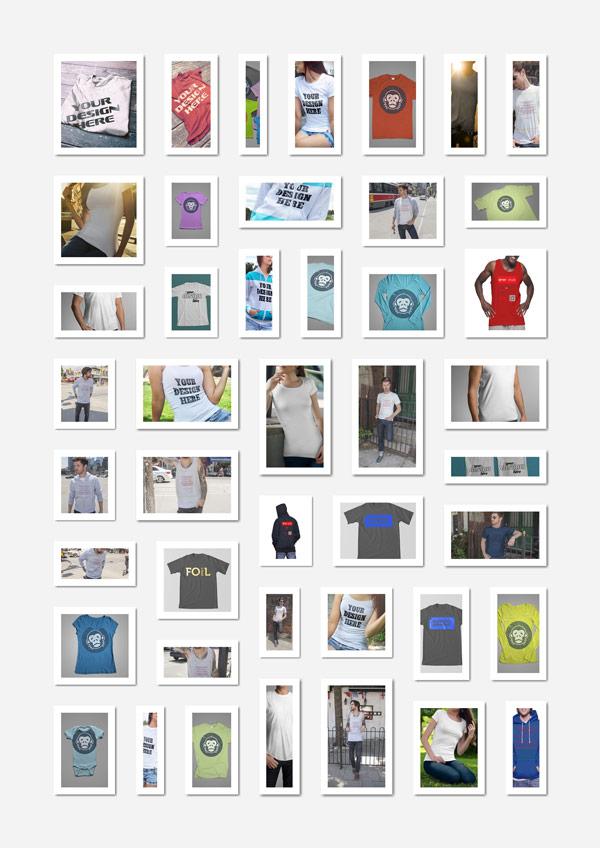 psd 75 sets of garment prototype drawings [PSD] 75套T桖衫服装样机图/智能贴图/草稿贴图 草稿贴图 样机图 服装样机图 智能贴图 VIP专享 PSD素材 PSD