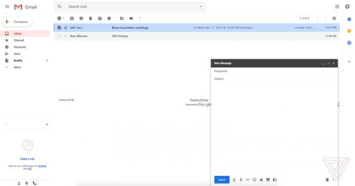 07c946bf89d98f0 全新的 Gmail 设计网页版曝光:布局更佳人性化 Gmail