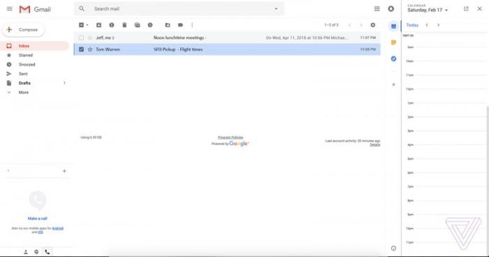 aa359df2361205f 全新的 Gmail 设计网页版曝光:布局更佳人性化 Gmail