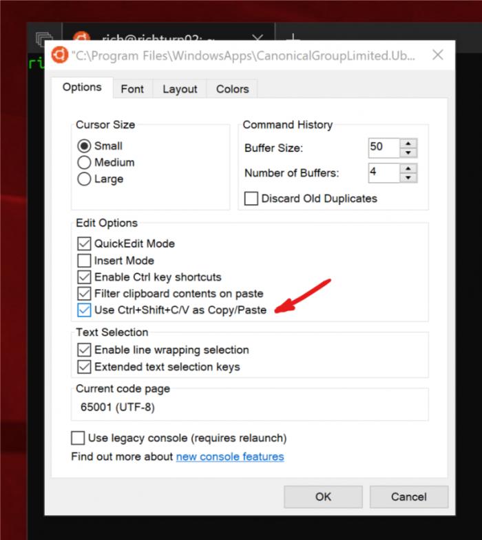 """c5e534be2835c3b Windows 10 的 Linux 子系统现已支持""""复制/粘贴""""操作 Windows 10"""
