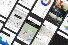 [PSD] 精选手机APP交互界面UI设计素材扁平化风格