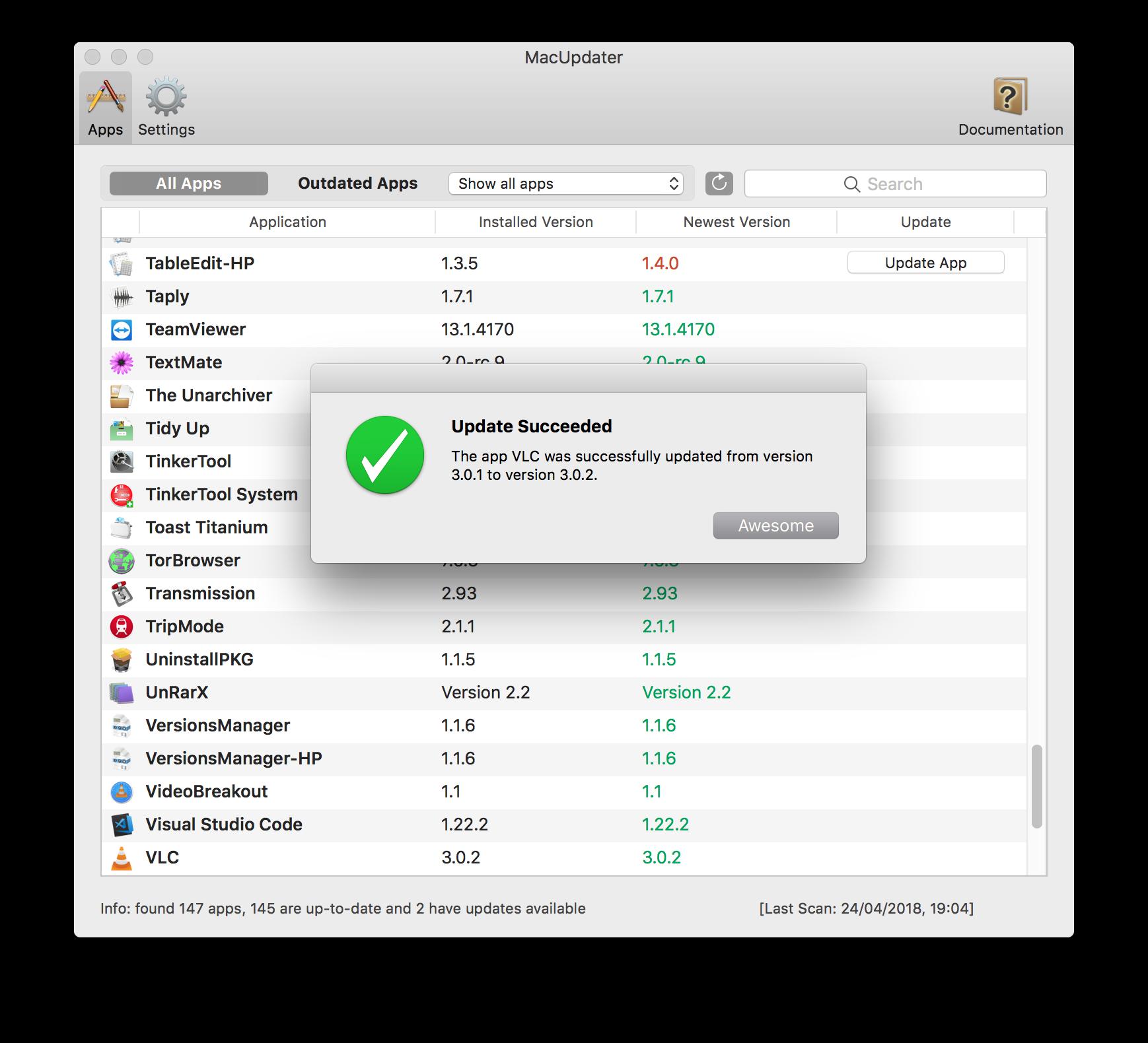 MacUpdater MacUpdater 1.3.1   自动跟踪Mac应用最新更新 Mac应用 MacUpdater