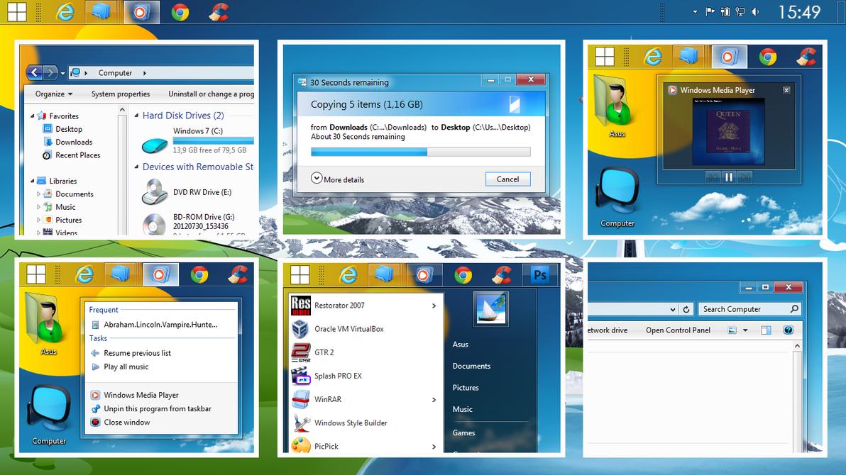 aero silver v2 0 by robi450 d6c7tcf Windows 7 精选主题包【珍藏版】+ 美化工具 + 教程 Windows 7美化 Windows 7主题 VIP专享