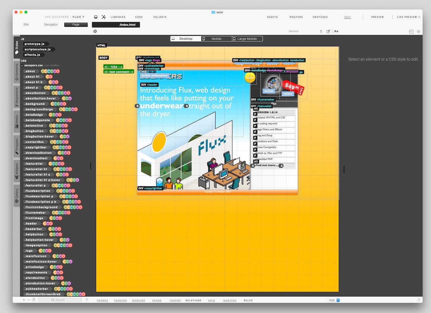 flux Flux 7.1.11   Mac零编程网页开发工具 网页 编程 开发 Flux