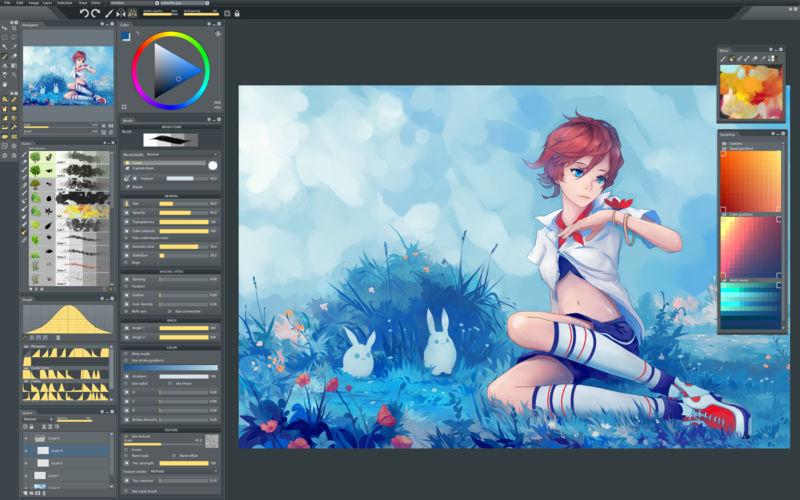 800x500bb 1 Paintstorm Studio 2.30.040618   Mac专业数字绘画软件 绘画 Paintstorm Studio MAC