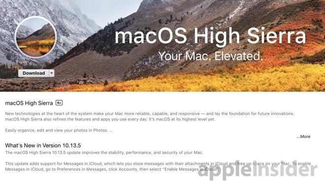 8210c18867899b3 苹果发布 macOS High Sierra 10.13.5,支持 iCloud 云端信息 macOS