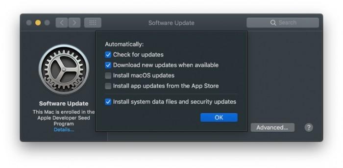 """8b5cc3c0c5eaacb macOS 10.14 """"系统更新""""功能重新回归系统偏好面板 macOS"""