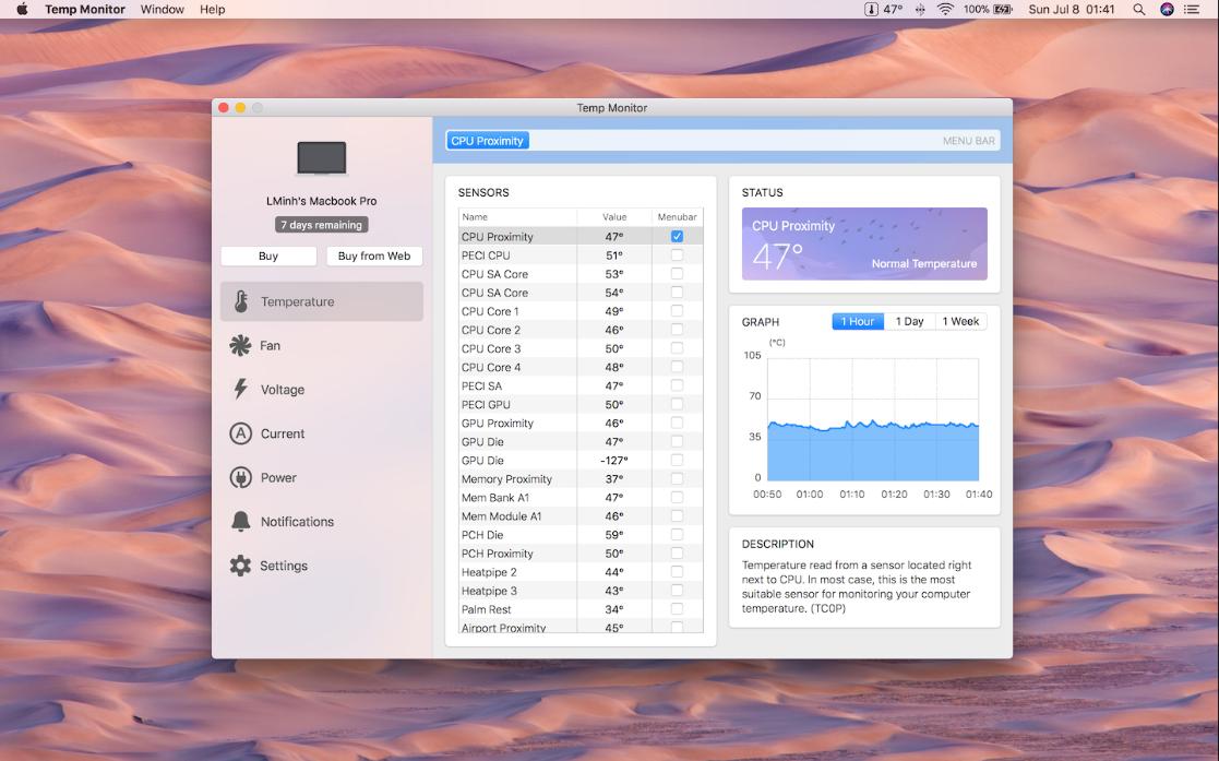 20180710213721 Temp Monitor 1.1.8   Mac笔记本温度监测软件 笔记本温度 Temp Monitor MAC