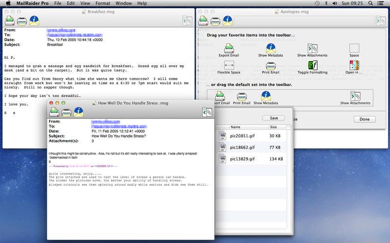 MailRaider Pro 3.50   在Mac电脑上打开 Outlook 邮件 Outlook MailRaider Pro