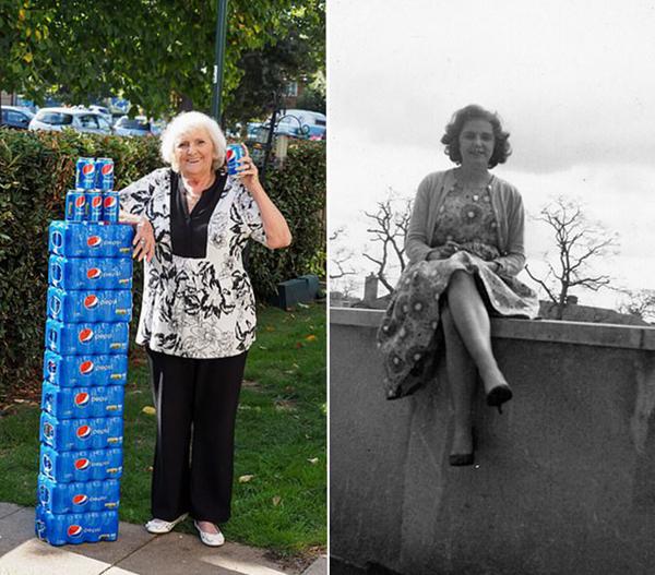 """173b4b9d1f95a07 英77岁老太64年里每天四罐""""快乐肥宅水"""",依然苗条健康 可乐"""