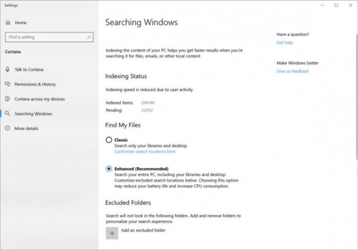 1adfeac3e43d9d0 Windows 10 Build 18267发布:增强模式搜索索引 Windows 10