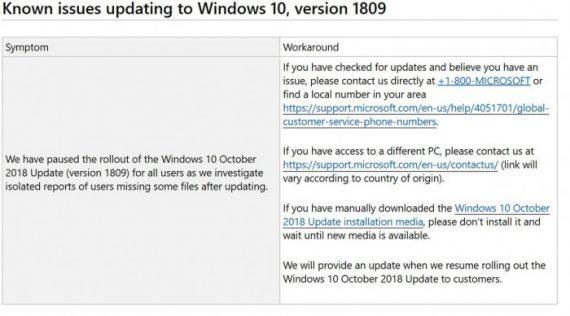 e7a7210c61ddce6 570x316 Windows 10十月更新文件丢失,微软建议减少使用PC Windows 10