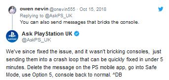 """fe9007ab1ef8dd4 索尼:已修复PS4""""恶意代码消息""""漏洞,附解决方法 PS4"""