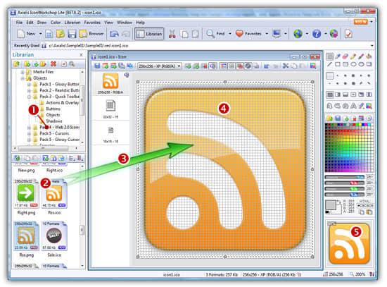 456451 Axialis IconWorkshop 中文汉化专业版 6.9.1.0   功能超强大的图标制作/管理软件 图标 Axialis IconWorkshop
