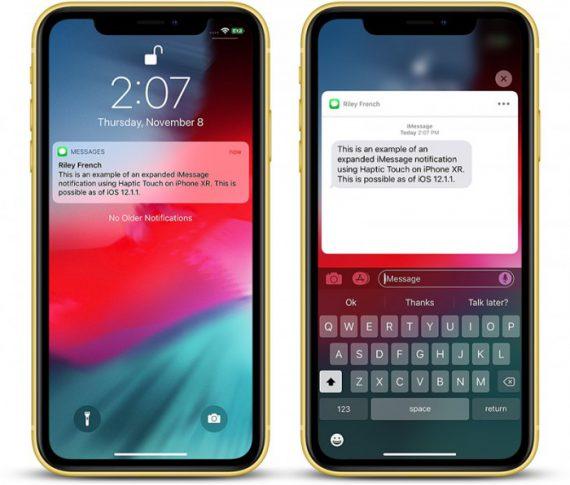 a2dc24a45e15de6 570x485 iOS 12.1.1 新功能:iPhone XR 通知中心支持触觉反馈 iOS 12