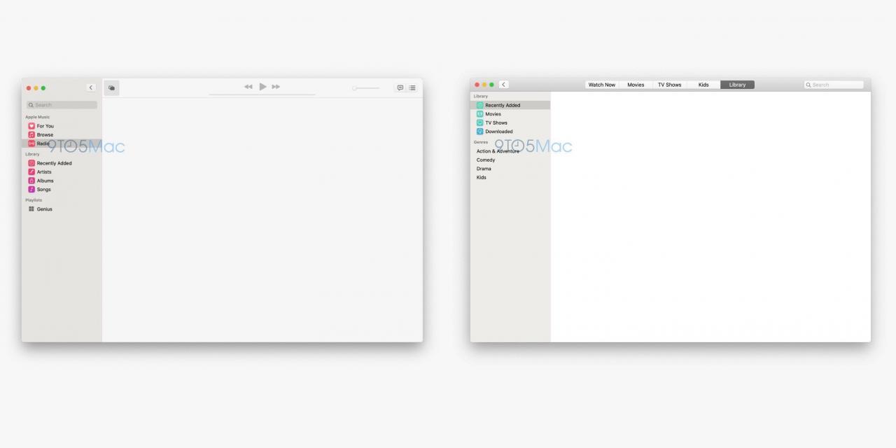 macOS 10.15 全新音乐和 TV 应用截图曝光 极致简约 热点资讯 第1张