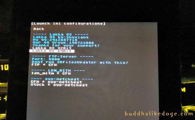 选择 Lakka OS 32Bit 或者 Lakka OS 64Bit