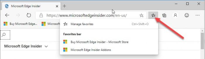 新版Edge浏览器启用Windows 10收藏夹功能 热点资讯 第2张