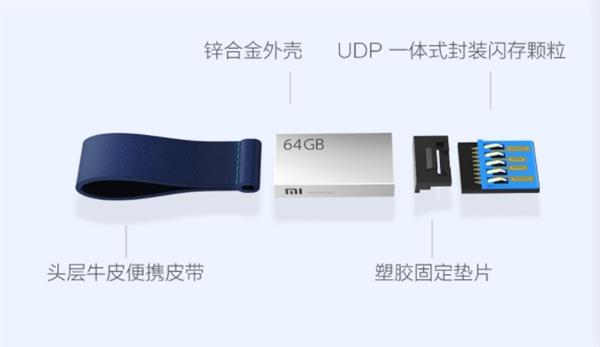 小米U盘发布:64GB售79元,最高读取速度124MB/s 热点资讯 第3张